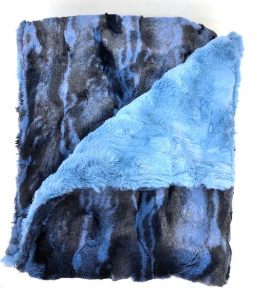 Jupiter Blue Luxurious Baby Blanket