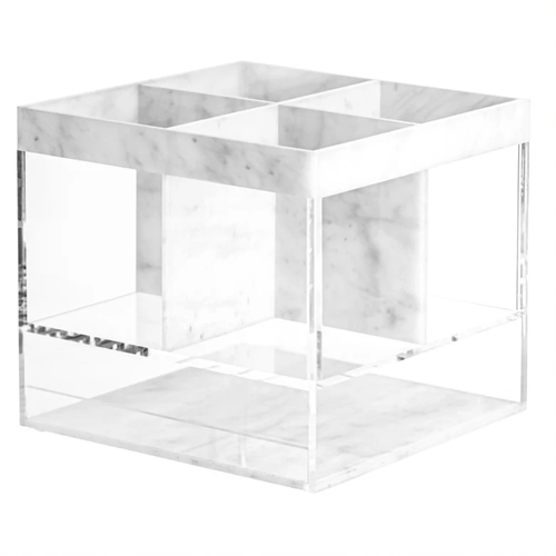 Lucite Silverware Caddy - Marble