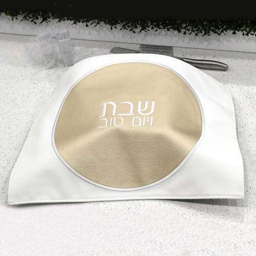 Leather Challah Cover - Circle