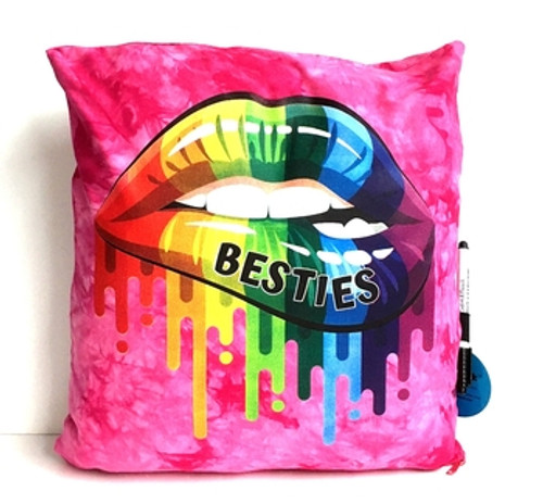 Bestie Lips Autograph Pillow