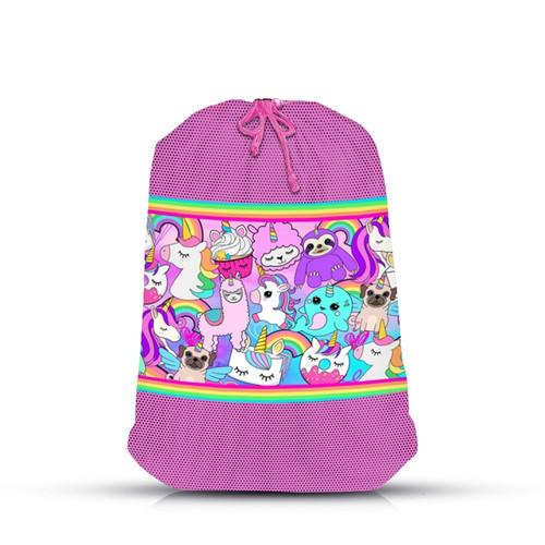 Unicorn Print Laundry Bag