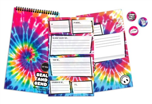 Tie Dye Stationary Send & Seal