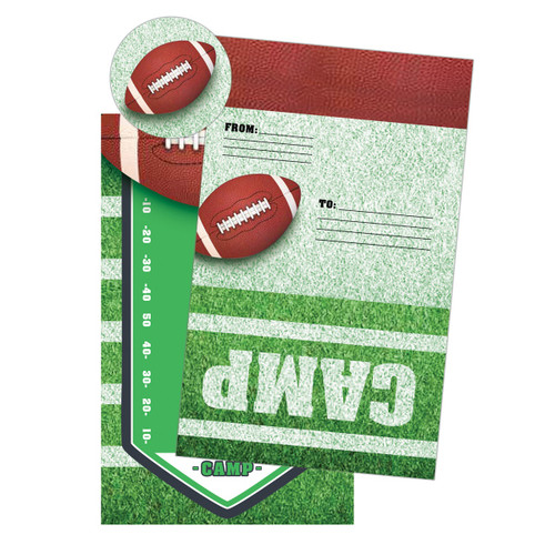 Football Camp Notecards