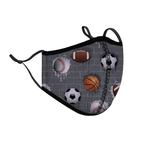Sports Fashion Face Mask Kids 3-7 Yrs