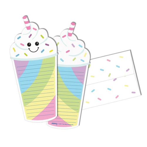 Milkshake Glitter Notecards