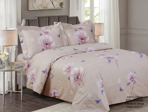 French New Orchid Linen Set