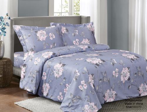 French Pink Violets Linen Set