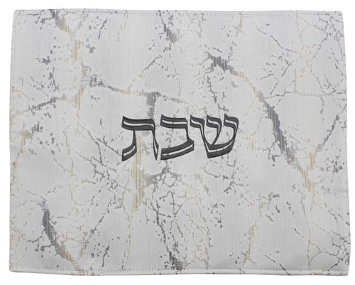 Challah Cover Jacquard Silver
