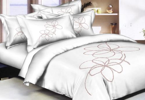White Taupe Elegance Linen Set