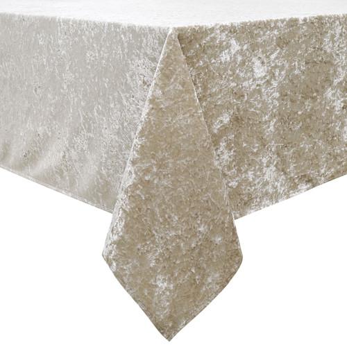 Crushed Velvet Beige Tablecloth