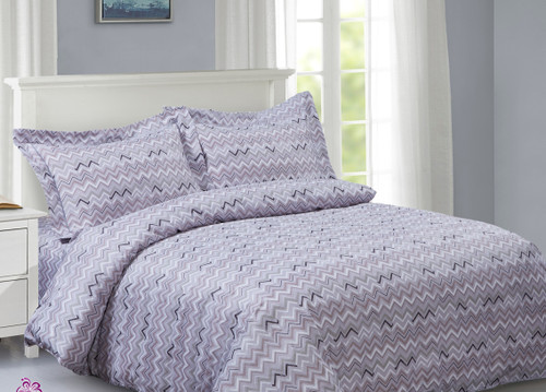 French New Multi Waves Linen Set