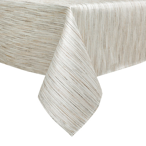 Jacquard Tablecloth White/Silver Lines