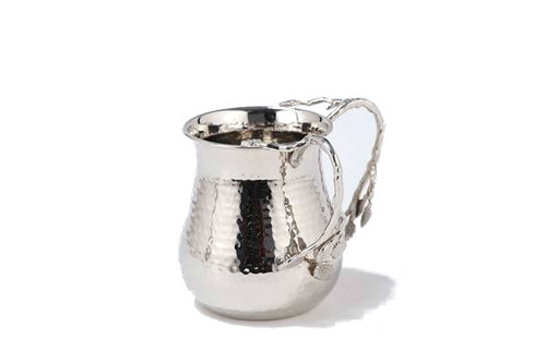 Classic Touch Nickel Hammered Washing Cup