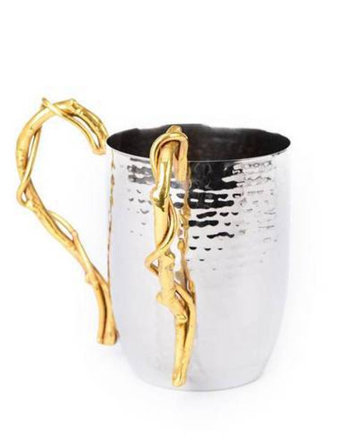 Classic Touch Branch Hammered Washing Cup