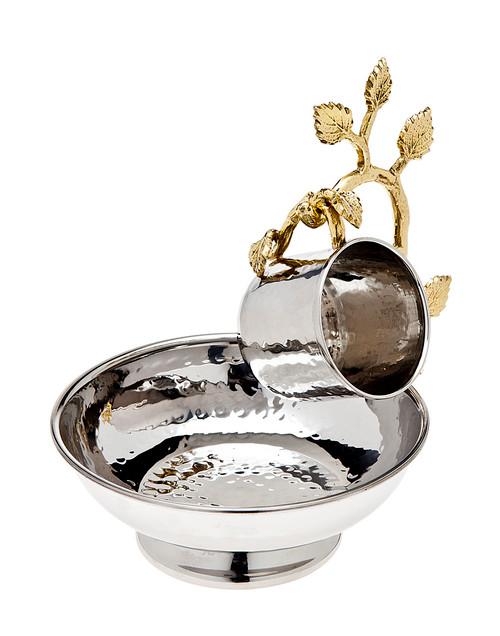 Godinger Leaf Hanging Wash Cup & Bowl