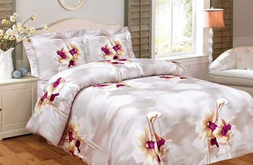 French Lilies Tan Linen Set