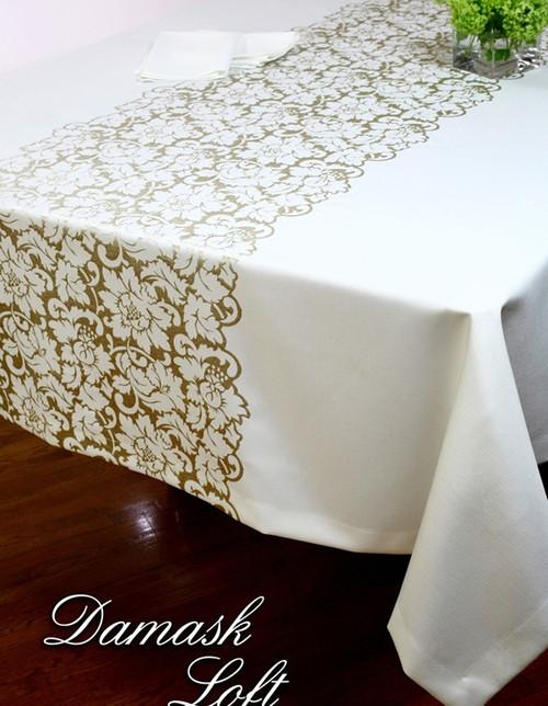 European Damask Loft Tablecloth