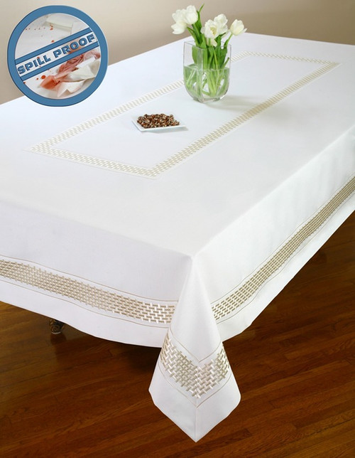 European Basket Weave Tablecloth
