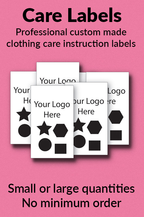 Custom Care Labels And Tags For Clothes Garments From Name It