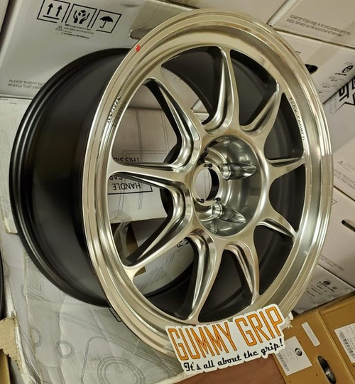COUNTERGRAM 18X8.5 5x114.3 +43 HYPER CHROME / MACHINED LIP