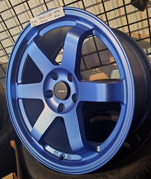 AVID 1 AV06 - 17x8 5X114.3 +35 Matte Blue
