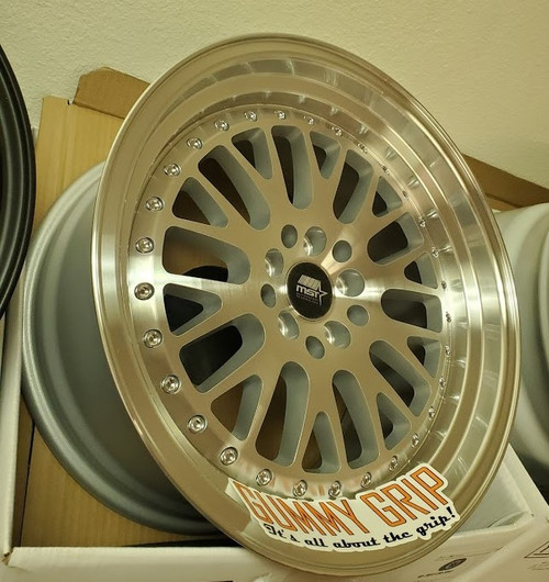 MST MT10 17x9.0 5x100/5x114.3 +20 - Silver w/Machined Face