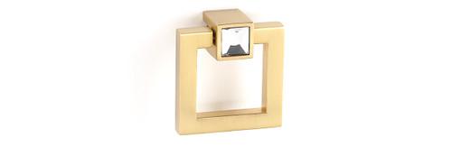Modular Crystal Square Ring Pull