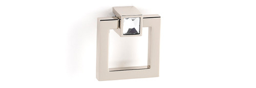 Modular Crystal Square Ring Pull