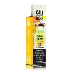 Juice Head Freeze Cali Bars Peach Pear Disposable Vape Pod