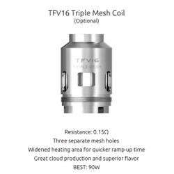 Smoktech TFV16 Triple Mesh Replacement Coils - 3PK | SMOK Replacement Coil