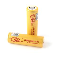 Imren (Gold) IMR 21700 (3750mAh) 40A 3.7v Battery Flat-Top - 2 Pack