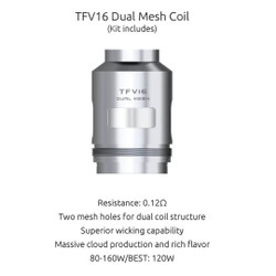 SMOK TFV16 Dual Mesh Replacement Coils - 3PK | SMOK Replacement Coil