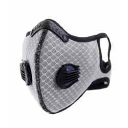 White Cloth Sport Valved Carbon Mask - 1PK