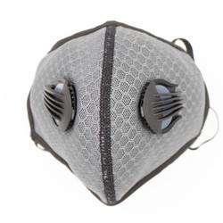 Grey Neoprene Sport Valved Carbon Mask Ear-Loop Version - 1PK