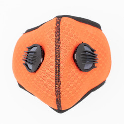 Orange Neoprene Sport Valved Carbon Mask Ear-Loop Version - 1PK