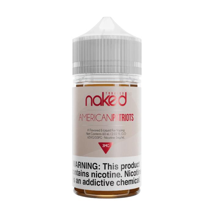 Naked 100 American Patriot 60ml E-Juice   Naked 100 E-Liquid