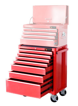 Seven Drawer Roller Cabinet (Red)