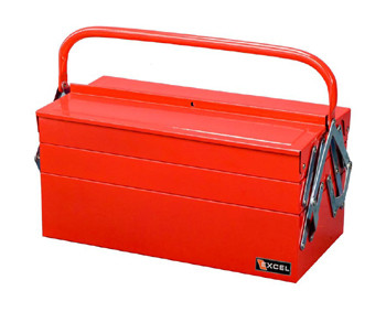 Cantilever Metal Toolbox (5 Trays - Red)