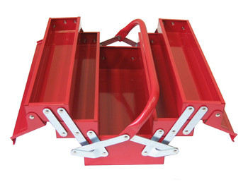 Cantilever Metal Toolbox (5 Trays - Red) 1
