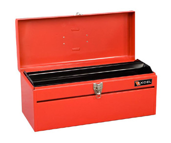 Portable Metal Toolbox (Red - 20 in.)