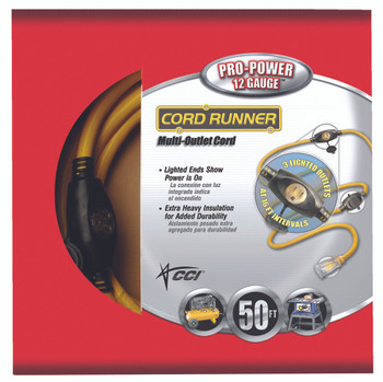 CordRunner Vinyl Multiple Outlet Cords (50 ft.): 09003