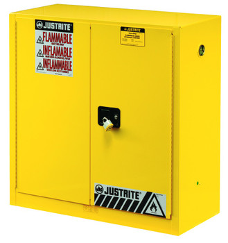 Justrite Yellow Safety Cabinets for Flammables: 893
