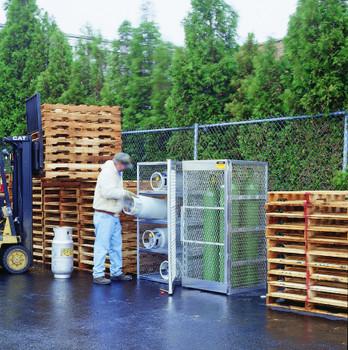 Justrite Aluminum Cylinder Lockers: 2300