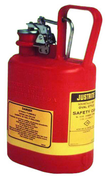 Justrite Oval Nonmetallic Type l Safety Cans for Flammables: 14140 and 14160