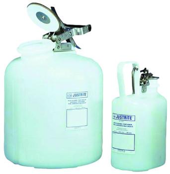 Justrite Self-Close Corrosive Containers for Laboratories: 12161 Series