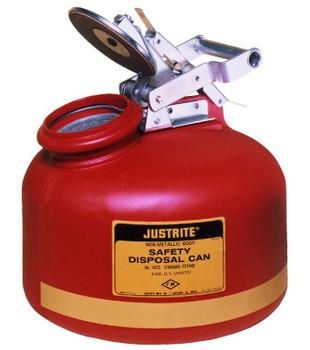 Justrite Red Liquid Disposal Cans: 14722 Series