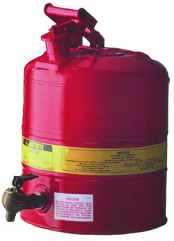 Justrite Red Steel Safety Cans for Laboratories: 10809 Series