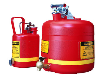 Justrite Nonmetallic Safety Cans for Laboratories: 14590 and 14169