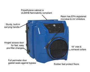 Abatement Products Portable Air Scrubber: PRED600