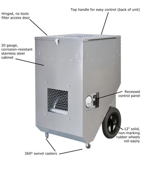 Abatement Technologies HEPA-AIRE® Portable HEPA-Filtration Systems: PAS1600S and PAS1600SHS